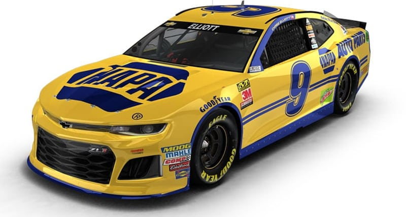 Chase Elliott Darlington Paint Scheme