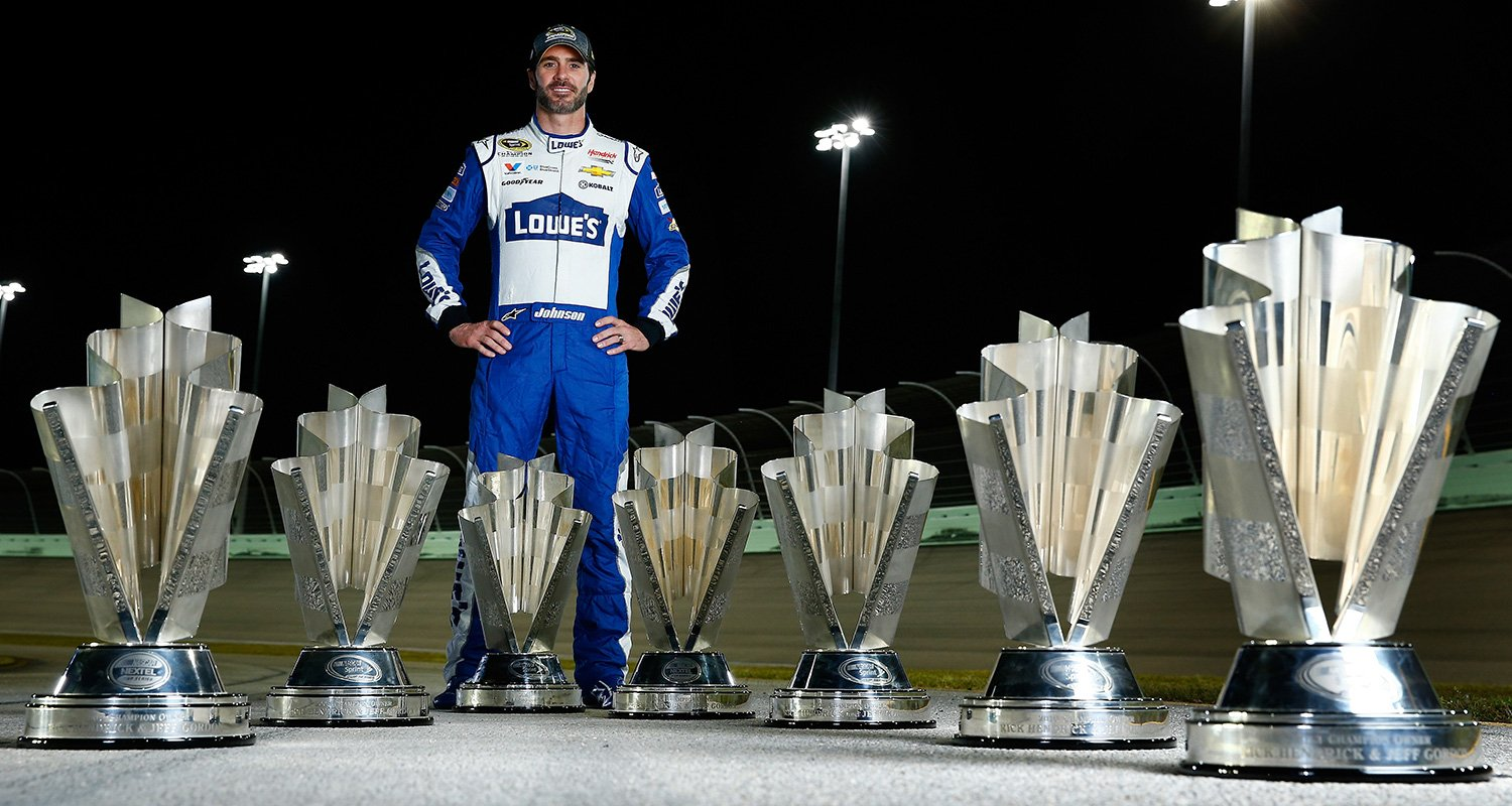 Jimmie Johnson Seven Trophies