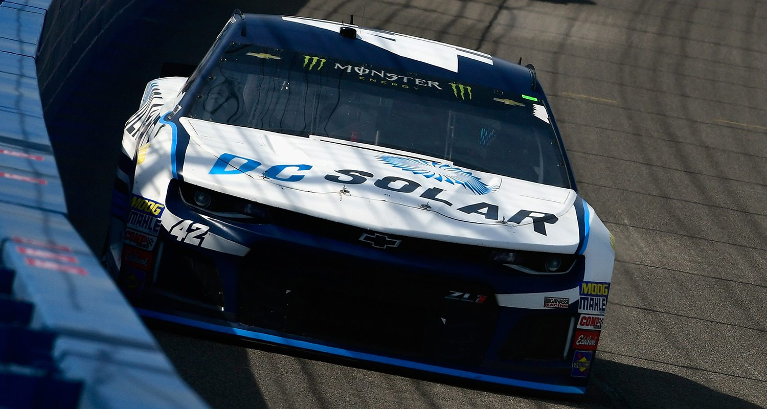 Kyle larson second at auto club speedway mrn for Larson motors used cars
