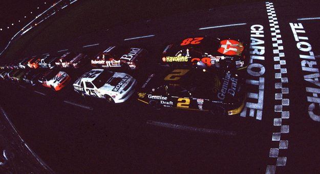 The 1992 All-Star Race marked the first event under the lights at Charlotte Motor Speedway. (Photo: ISC Archives)
