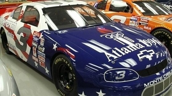 Earnhardt's 1996 All-Star car honored the 100th anniversary of the modern Olympic Games held in Atlanta.