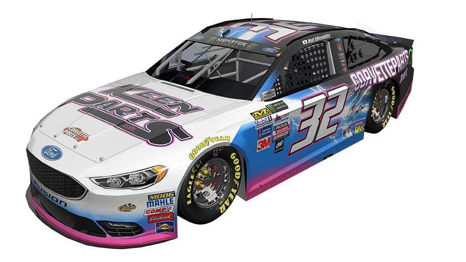 Matt Dibenedetto Throwback Car Render