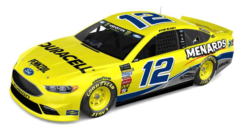 Ryan Blaney Throwback Scheme Darlington