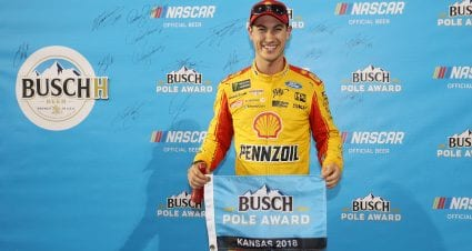 Logano Captures Kansas Pole