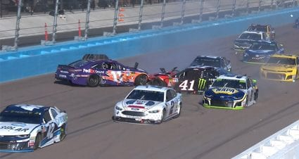 Crash Collects Kurt Busch, Elliott