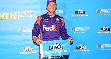Hamlin Wins Miami Pole
