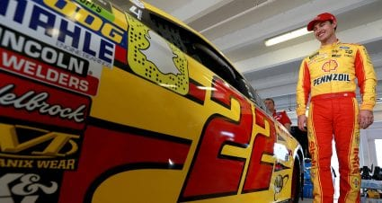 Logano Leads Saturday Practices
