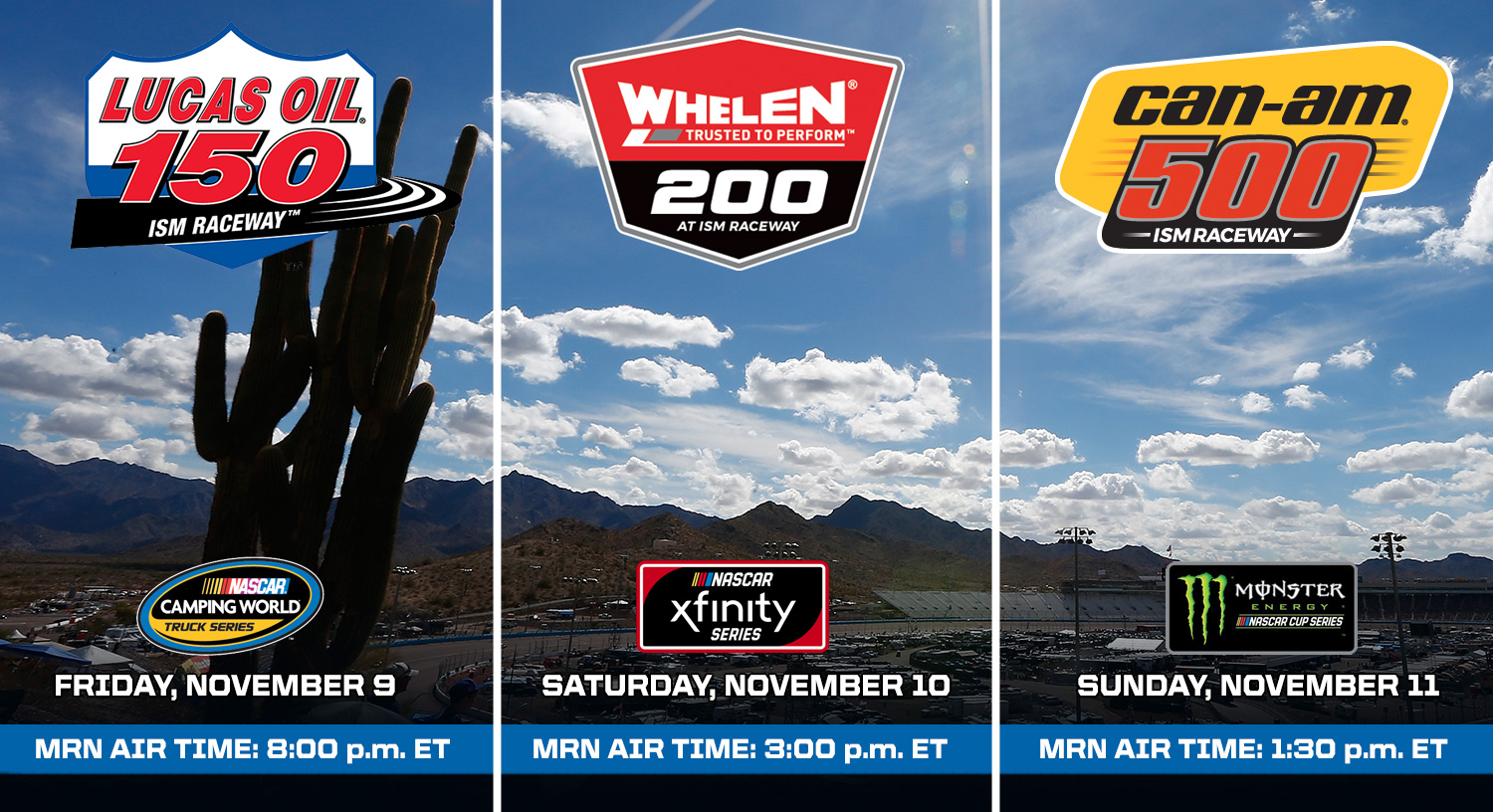 ISM Raceway Schedule of Events - Can-Am 500 | MRN