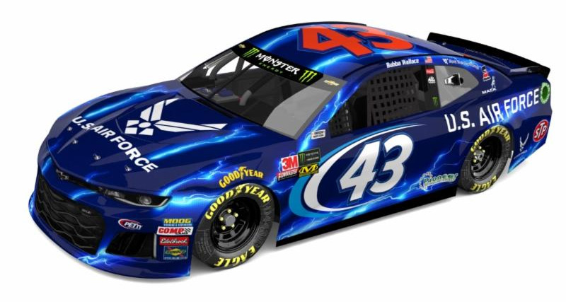 Bubba Wallace 43 Air Force