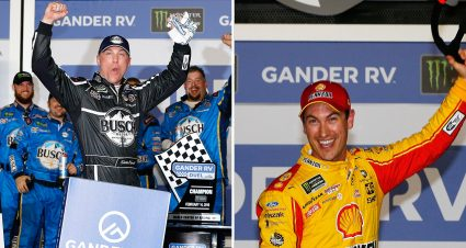 Harvick, Logano Duel Winners