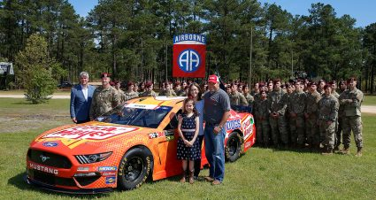 Newman Visits Fort Bragg