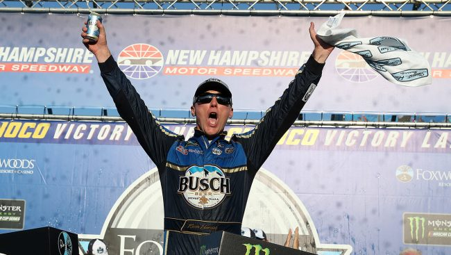 Harvick Gets First Win of Season