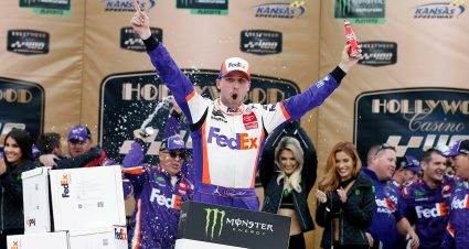 Hamlin Wins Kansas; Round of 8 Set