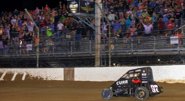 Kyle Larson Wins Wild Stoops Pursuit at The Dirt Track at