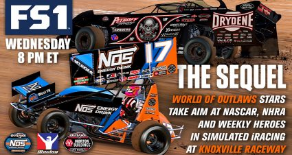 World of Outlaws Continues Live on FS1's Wednesday Night iRacing