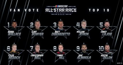 Top 10 in All-Star Race Fan Vote