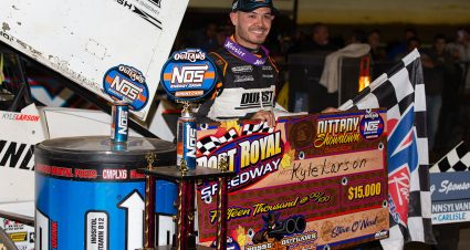 Larson Named 410 Sprint Car Driver of the Year