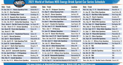 World of Outlaws 2021 Schedule Announced
